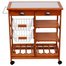 Homcom Kitchen Island Wooden Storage