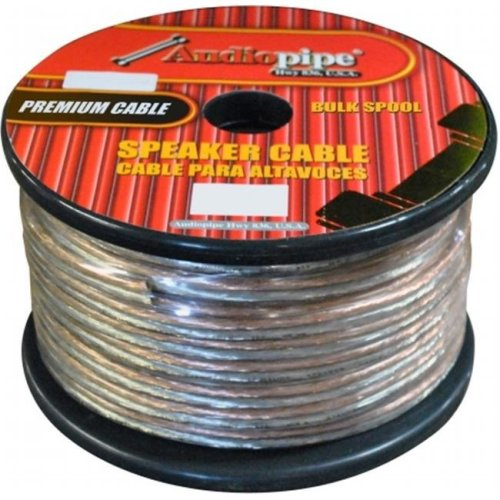 AUDIOP CABLE1050 10 Ga 50 ft. Spool Car Audio Speaker Cable - Clear