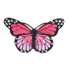 6PCS Embroidered Fabric Patches Sticker Iron Sew On Applique [Butterfly I]