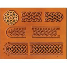 Celtic Belt & Buckle Leather Pattern Template -  celtic belt buckle craftaid 7661100embossingleathercraft