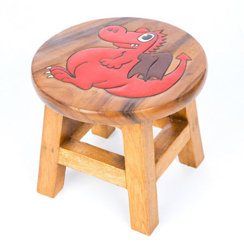 Childs Stool – Red Dragon