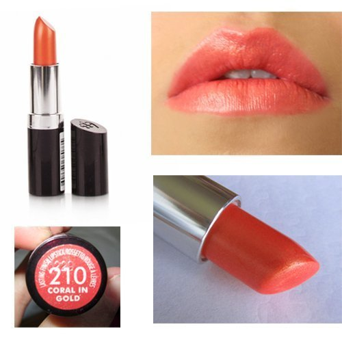 Rimmel Lasting Finish Lipstick Coral in Gold #210