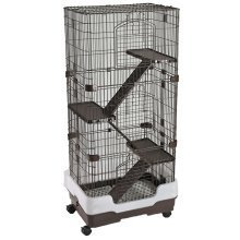 Lazy Bones 4-Tier Rodent Cage With Wheels | 4-Storey Rat Cage