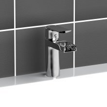 B039 Modern Waterfall Basin Monobloc Mixer Tap Bathroom Chrome Plated Brass