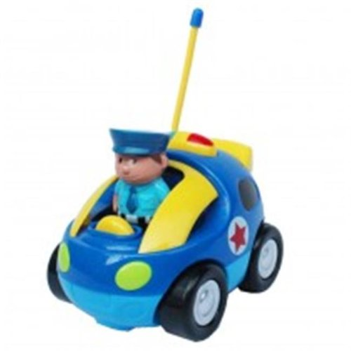 Az Import & Trading MC66B Cartoon RC Police Carl Toy for Toddlers - 4 in.