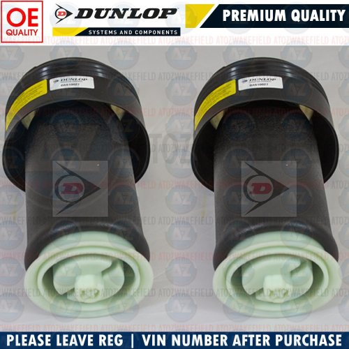 FOR BMW X5 E70 X6 E71 REAR SUSPENSION AIR SPRINGS BAGS GENUINE DUNLOP LEFT  RIGHT
