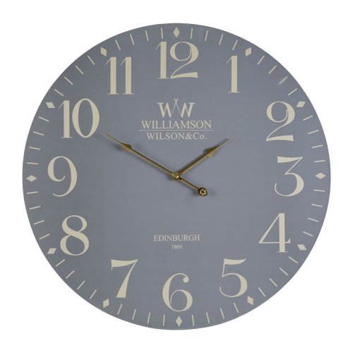 Classical Wall Clock, MDF, Grey