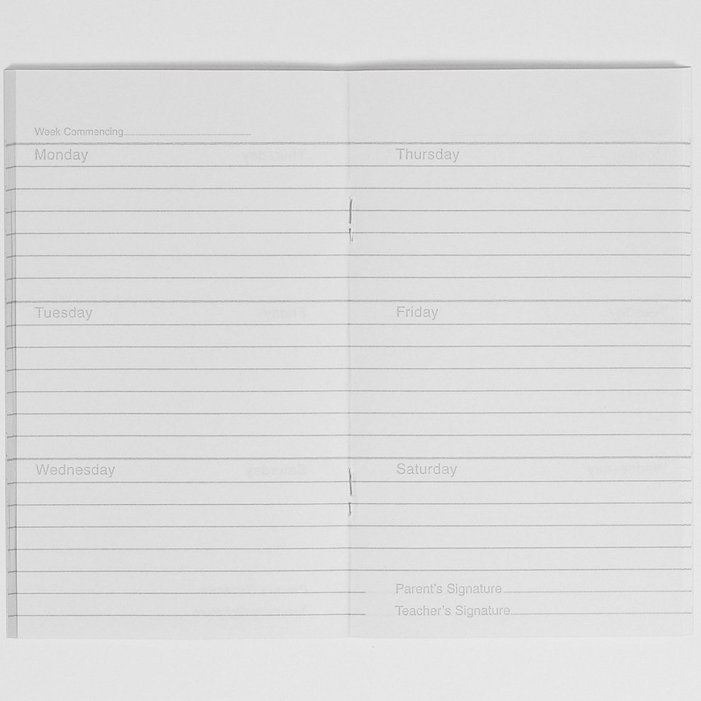 RHINO 6 25 x 4 84 Pages 6 Day Week Homework Diary