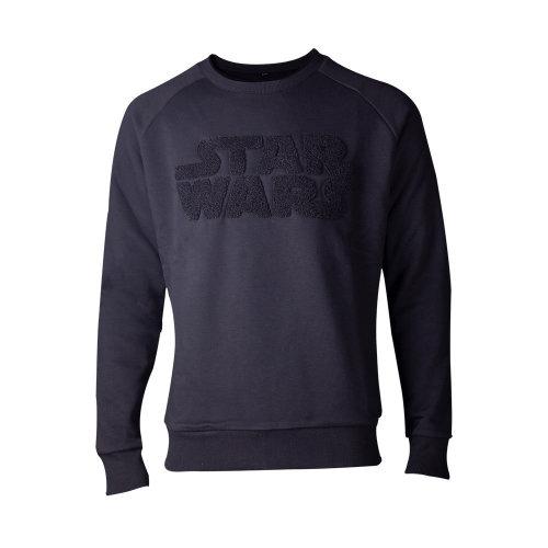 STAR WARS Chenille Logo Sweater, Male, Large, Black (SW622758STW-L)