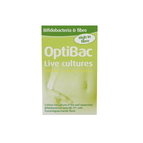 OptiBac Bifidobacteria & Fibre - Daily 5 Billion CFU B. Lactis BB12 - 10 Sachets