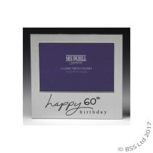 Happy 60th Birthday 5 x 3 photo Frame by Shudehill giftware
