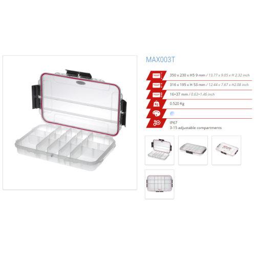Original Panaro IP67 Professional Waterproof Cases - Box - Trunk - more (MAX003T TRANSPARENT)