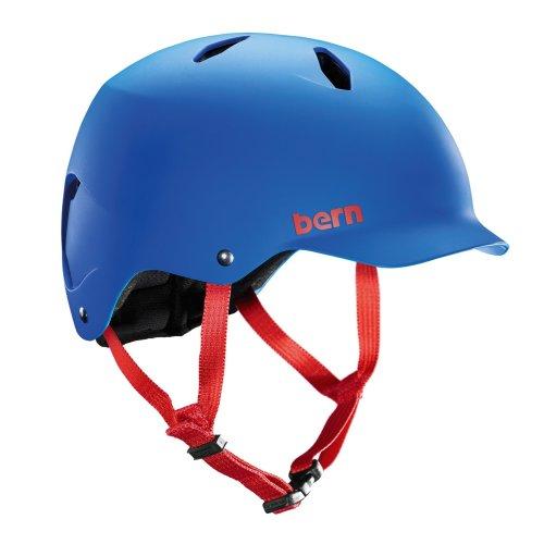 Bern Kids' Bandito EPS Matte Cycling Helmet, Cobalt Blue, Medium/Large