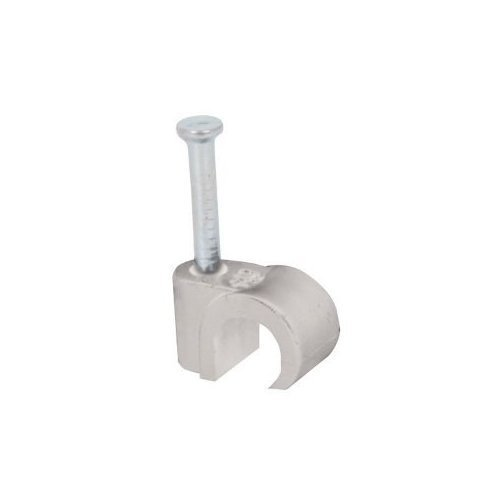 100 x White Coaxial Cable Clip Coax Round 6-7mm
