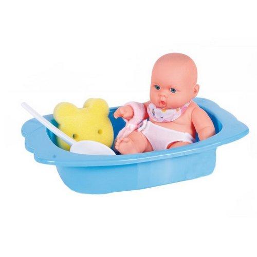 Take a Bath Baby Doll Pretend Play Toy for Kids BLUE
