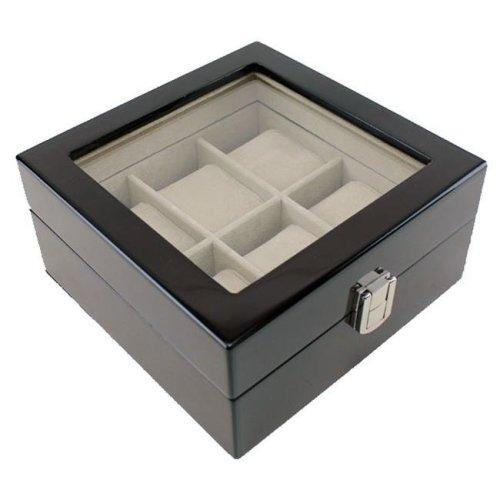 hdbox001-espresso Heiden Premier Espresso Watch Box - 6 Watches