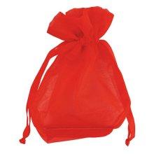 Club Green Medium Organza Pouch - Red - Official Party Product Favour Bag 10 -  official party product medium organza pouch red favour bag 10 pack
