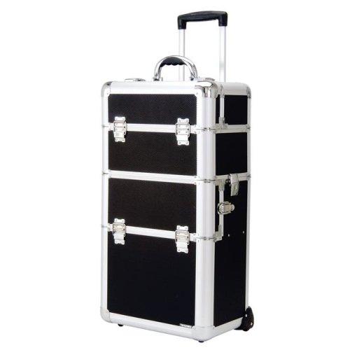 TZ Case AB-308T GBD Wheeled Beauty Spinner Organizer, Black Dot