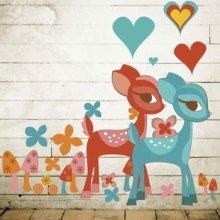 Wallies Wallcandy Deerly Beloved Girls Nursery Decoration 47pcs