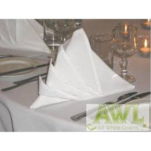 PLAIN WHITE HOTEL SOFT POLYESTER WHITE NAPKINS