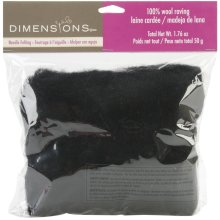 Dimensions Feltworks Bulk Roving 1.76oz-Black