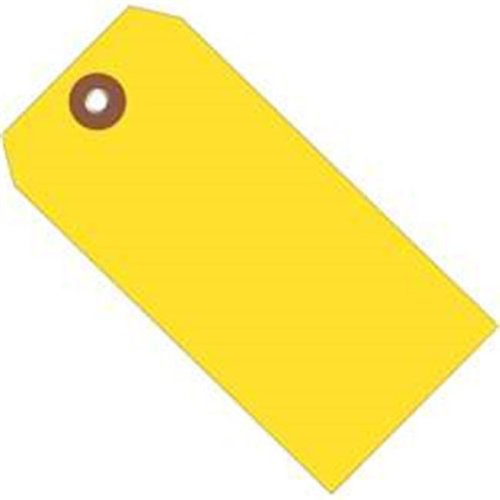 Box Partners G26052 4.75 x 2.38 in. Yellow Plastic Shipping Tags - Pack of 100
