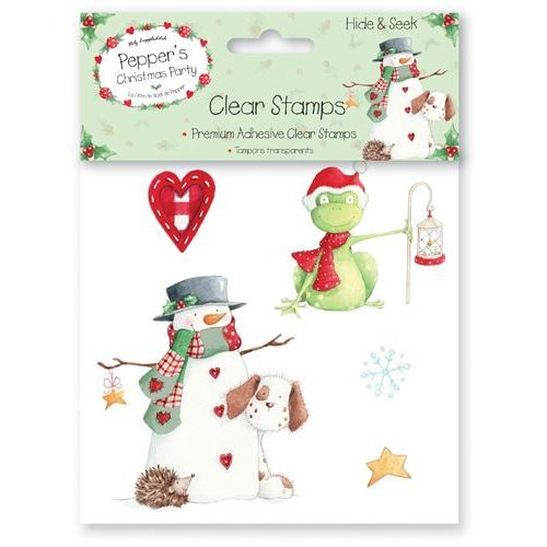 Set of 5 Clear Christmas Stamps Pepper Hide and Seek