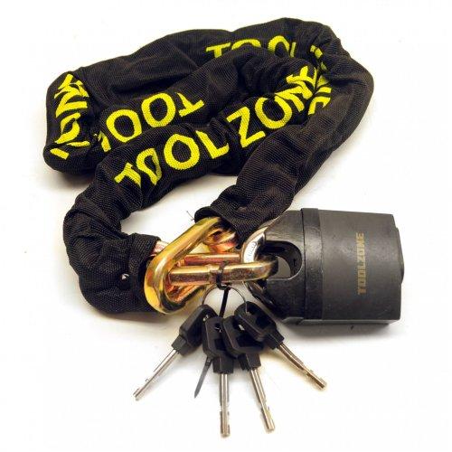 Motorcycle Bike Motorbike Security Chain Disc Lock Heavy Duty Padlock 1.1m TE149