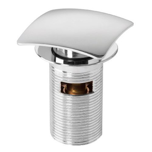 Click-clack Slotted Square Chromed Push Button Waste Plug for Sink/basin