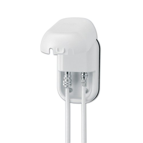 Maxview B2008 Two Socket Weatherproof Outdoor F-Plug & Coax Faceplate