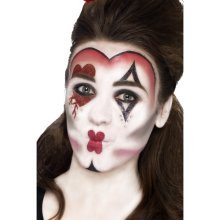 Smiffy's 44409 Queen Of Hearts Make-up Kit With Face Paints (one Size) - Make -  queen hearts face make up fancy dress makeup paints 44409 costume