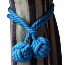 A Pair of Curtain Tiebacks Curtain Holdbacks, Blue
