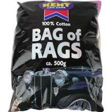 500g 100% Cotton Bag Of Rags - Kent Kr500 -  bag rags kent kr500 500g cotton