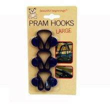 Pack Of 3 Large Pram Hooks