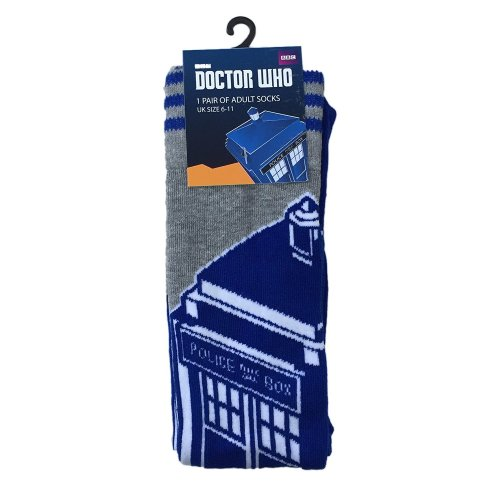Doctor Who Blue & Grey Tardis Mens Official Socks UK Size 6 - 11