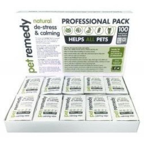 Pet Remedy Calming Wipes Sachet Professional Pack 100