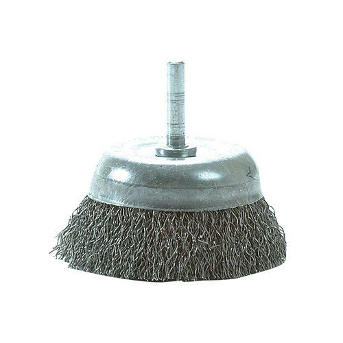 Lessmann 430.133.07 DIY Cup Brush with Shank 75mm x 0.35 Steel Wire