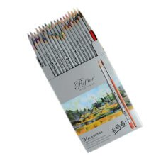 Professional Water-Soluble Colored Pencils Set of 36 Pencils Assorted Colors