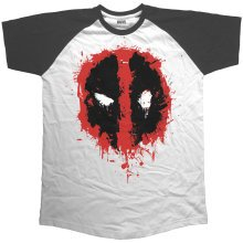 91e83d5b4 Deadpool Men's Splat Icon Short Sleeve Raglan T-shirt - deadpool splat  icon short sleeve longline raglan mens black white tshirt