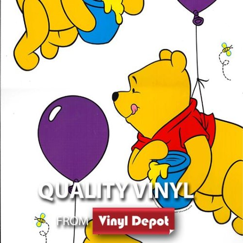 Vinyl Depot Static Cling Transparent Decor Window Film Winnie The Pooh 450mm/m
