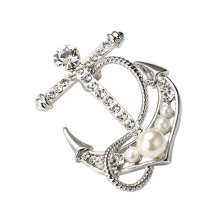 Anchor Shaped Brooches Jewelry Accessories Business Suit Blouse Pins
