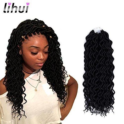 Lihui 6 Packslot Curly Faux Locs Crochet Hair Goddesss Dreadlocs