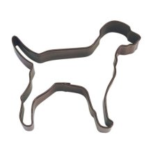 """Chocolate Lab Poly Resin Coated Tin Cookie Cutter 4"""" Pr1206z -  cookie cutter dog brown 4 biscuit cutters chocolate lab poly resin coated tin pr1206z"""
