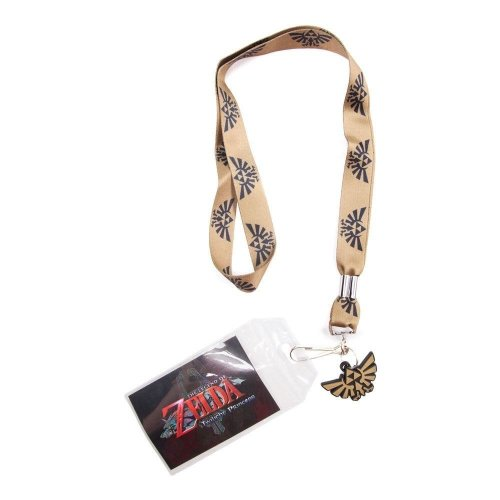 Nintendo Legend Of Zelda Twilight Princess Gold Royal Crest Lanyard - Gold/Black