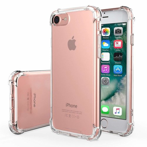 iPro Accessories iphone 6/6s cover, Clear [Shockproof Bumper Case] Transparent/Silicone Gel Tpu Case