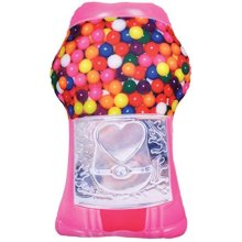 "iscream Sugarlicious! Bubble Gum Scent Gumball Machine 18"" x 10"" Photoreal Microbead Pillow"
