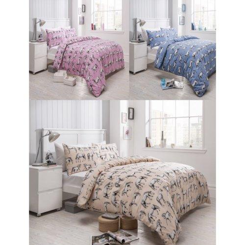Horses Animal Modern Duvet Cover Bedding Set All Sizes