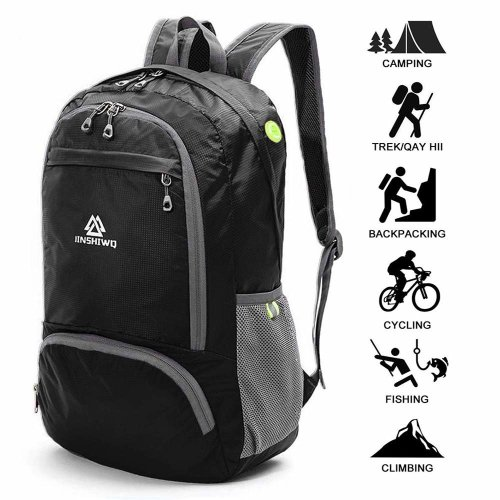 9ed765e85619 Loocower Lightweight Hiking Travel Backpack, 35L Packable Ultralight  Backpack Daypack, Water-Resistant Foldable Camping Outdoor Backpack for...
