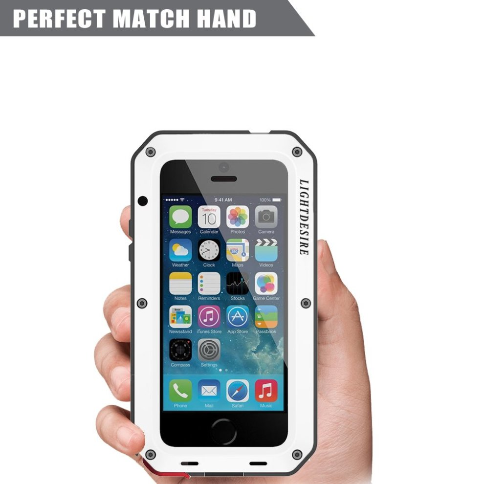 half off 6c066 cb7f8 LIGHTDESIRE iPhone 6S Plus Case, [Newest] Aluminum Alloy Protective Metal  Extreme Water Resistant Shockproof Military Bumper Heavy Duty Cover Shell...