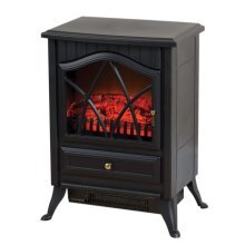 Daewoo Electric Heater Small Stove Effect (Black)